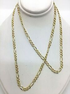 """14k Solid Gold Tri-Color Yellow, Rose,& White Gold Chain 21"""" Inches 8.44 Grams"""