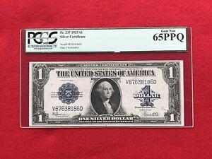 FR-237  1923 Series $1 Silver Certificate *PCGS 65 PPQ GEM NEW*