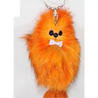 Ladies Fox Fur Tail Keychain Tassel Bag Tag Charm Handbag Pendant Accessories