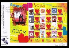 ISRAEL STAMPS 2010 VALENTINE'S DAY LOVE AMOR SPECIAL SHEET ON FDC