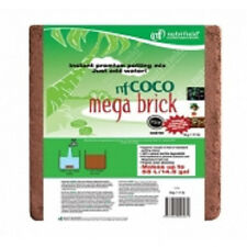 NUTRIFIELD 5KG MEGA BRICK PRE BUFFERED COCO BAG RHP CERTIFIED =  55LITRES MEDIA