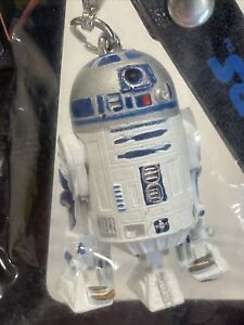 New R2-D2 Mobile Phone Charm Official Star Wars Fan Club White + C3PO Charm
