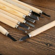 12pcs DIY Tools Set Hand Wood Carving Chisels Knife for Woodcut Gouges Crafts