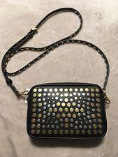 Michael Kors Jenkins Stud Pouches Camera Bag (Color: Black)