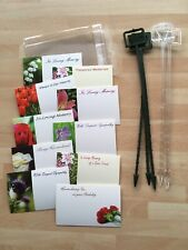 25 Remembrance Florist Cards Plastic Sleeves & Card Holders Funeral Grave