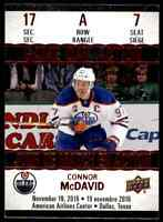 2017-18 Upper Deck Tim Hortons Game Day Action Connor McDavid . #GDA-7