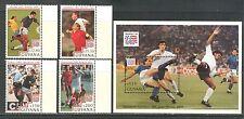 GUYANA 1993, WORLD SOCCER CUP U.S., 4 STAMPS AND 1 SOUVENIR SHEET, MNH