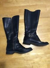 TIMBERLAND Black Leather BOOTS Knee High Zipper Womens size 8