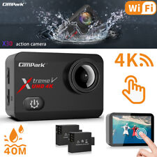 Campark 4K WiFi Digital Action Camera 20MP Touch Screen 1080P Sports Waterproof