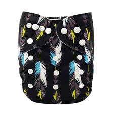 Alva Baby Cloth Diaper One Size Pocket Reusable Nappy+1 Insert Feather
