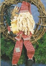 Pattern-Primitive Santa Claus Doll, Toys, & List Too! Great! Country Stitches