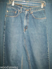 Levis Jeans Size W31 L30 100% Cotton 550 Relaxed Fit Fray Red Tag USA
