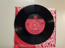 """LIVELY SET: Don't Call My Name-What Kind Of Love-U.K. 7"""" 65 Pye Records 7N.15880"""