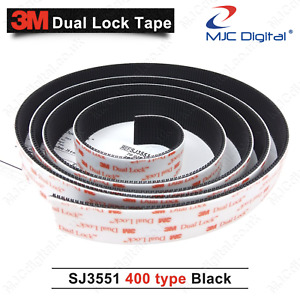 3M™ Dual Lock 1m, 2m or 3m 25.4mm Thick SJ3551 Self Stick Tape Black Heavy Duty