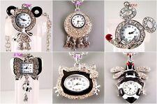 Wholesale Job Lot Animal Pendant Necklace Ladies Girl Watch w/ Swarovski Crystal