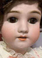 "Simon Halbig / Handwerck Antique German Bisque Big 28"" Doll Stamped Compo Body"