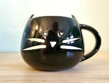Cute! Ceramic Black Kitty Cat Mug Halloween Decor Too Euc