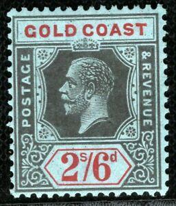GOLD COAST KGV Stamp SG.81a 2s/6d Die II (1921) Superb Mint VLMM c£42+ CBLUE108