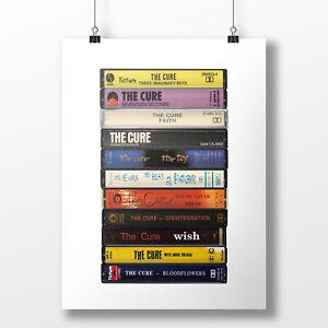 The Cure Poster: Cassette Print, Original Cure Albums, Gift, Fine Art Print