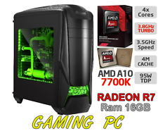 ULTRA VELOCE Quad Core 7700K 4.2Ghz 16GB 1TB Desktop AMD RADEON R7 Gaming PC