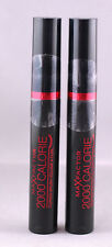 2 x Max Factor 2000 Calorie Curved Brush Mascara - Black - 9ml - Brand New