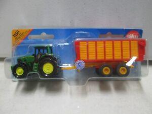 Siku John Deere Tractor with Trailer
