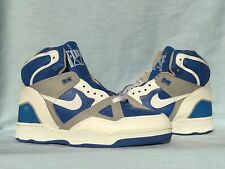 Vintage 1988 Nike Air Delta Force Hi Royal Blue/White/Gray Size 10 DS L@@K!!!