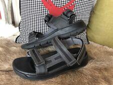 Joya Komfort Sandale Capri Carbon 16 Schwarz Leder Klett Gr. 40 NEU