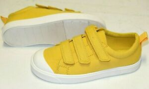 Clarks City Flarelo Yellow canvas unisex shoes/trainers 10/28 - 11.5/29.5 F