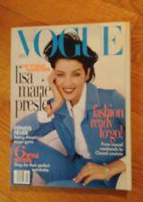 VOGUE MAGAZINE April 1996 Lisa Marie Presley cover