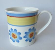 Villeroy Boch TWIST DORA COFFEE CUP MUG Floral Blue Yellow Red Stripe Excellent
