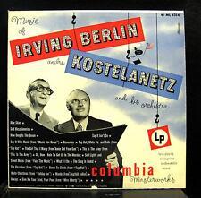 ANDRE KOSTELANETZ music of irving berlin LP VG ML4314 Vinyl Alex Steinweiss