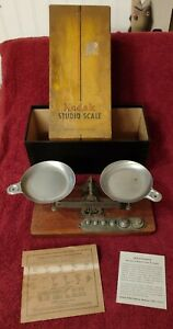 Antique Eastman Kodak Co. Studio Scale Complete w/ Weights & Box Great Condition