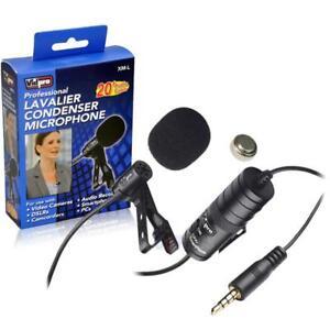 Nikon D3300 D3200 Df Camera External Microphone Vidpro XM-L Lavalier Microphone