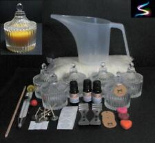 SOY WAX CANDLE MAKING KIT - CAROUSEL JARS  EVERYTHING YOU NEED TO MAKE 6 CANDLES