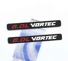 2x OEM 6.0L VORTEC HOOD emblem decals Silverado Chevy 1500 2500 HD GMC White YU