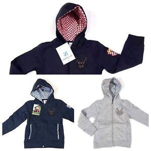 Trachtenjacke Kinder Kapuzenjacke Sweatshirt  v. Isar Trachten  Gr.80 bis 164