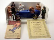 Schuco Studio IV Bugatti blau mit 6 Figuren # 01744