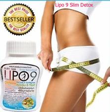 Lipo 9 Burn Slim,High Fiber, Detox From Switzerland 30 Capsules 100% Brand new