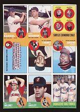 1963 Topps Uncut 9 Card Sheet W/ Sandy Koufax Bobby Richardson Orioles Team NICE