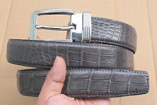 Gray Real Alligator Crocodile Leather Skin Men's Belt - W 1.5 inch