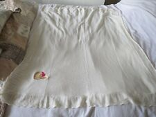 DISNEY BABY CREAM KNITTED WINNIE THE POOH COT BLANKET 128 cms x 120 cms