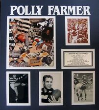 POLLY FARMER AFL HALL OF FAME SIGNED PHOTO BLACK FRAMED  WITH CERTIFICATE