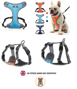 Breathable No Pull Mesh Padded Vest Reflective Dog Puppy Harness Adjustable