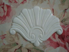 SHABBY & CHIC SHELL CENTER ARCHITECTURAL ONLAY PEDIMENT APPLIQUE