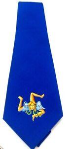 Trinacria, Medusa, symbol of Sicily, Men's Tie, Hand-Made in Italy