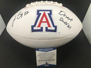 Lance Briggs Arizona Wildcats Desert Swarm Signed Football Beckett WITNESS COA