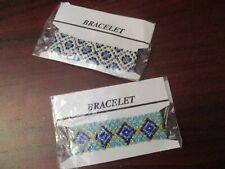 Native American Style Beaded Bracelets x 2 (NEW)