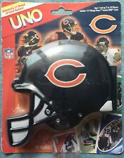 NFL Chicago Bears UNO Card Game With Helmet Case 2007 Sababa Toys RARE NIP