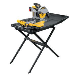Dewalt D24000 240V Wet Tile Saw 1600 Watt with Slide Table Stand D240001